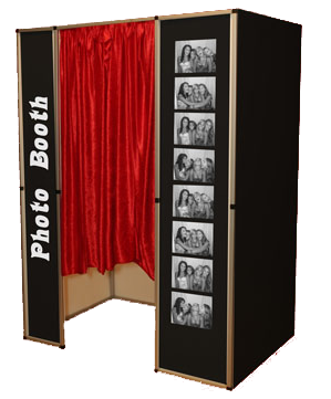 silver party photo booth backdrop